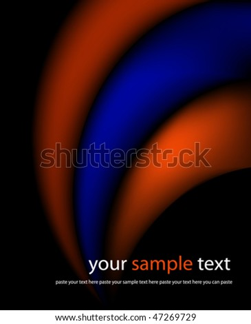 Abstract futuristic background. Vector illustration. (Rgb-model). - stock vector