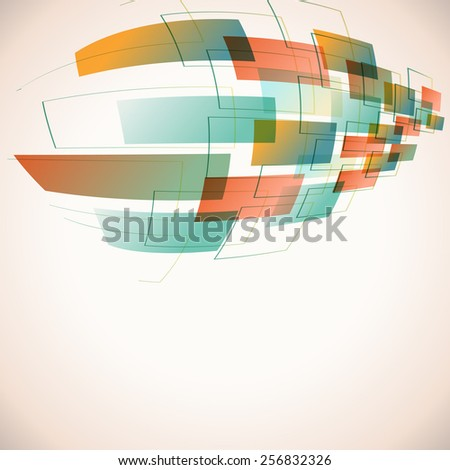 abstract futuristic background with retro colors - stock vector