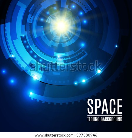 Abstract Futuristic Background with Techno Elements. Vector illustration