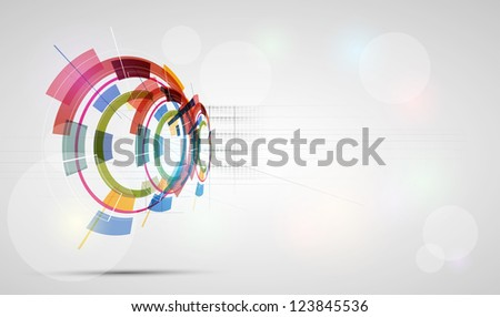abstract futuristic fade technology business banner background - stock vector