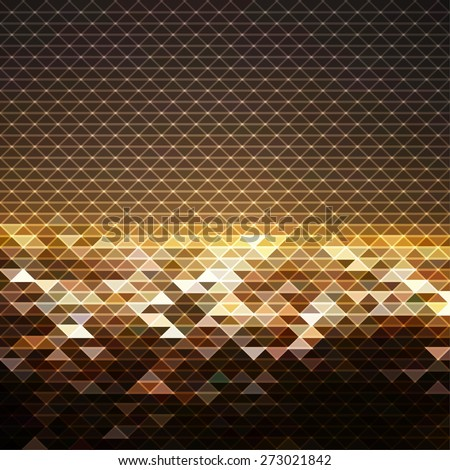 Abstract futuristic geometric background - stock vector