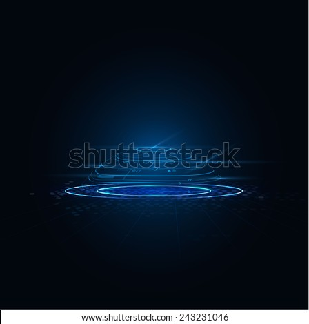 Abstract futuristic motion blurred and circuit technology, vector illustration