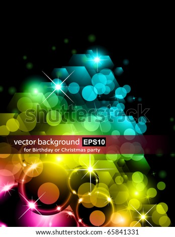 Abstract Futuristic Rainbow Lights Background for Poster of Flyers - stock vector