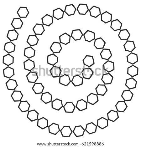 stock vector abstract futuristic spiral maze pattern template for children s games white hexagons black 621598886 treasure hunt board game stock images, royalty free images on spiral pattern template