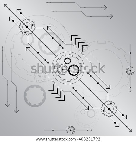 abstract futuristic technology  background vector illustration