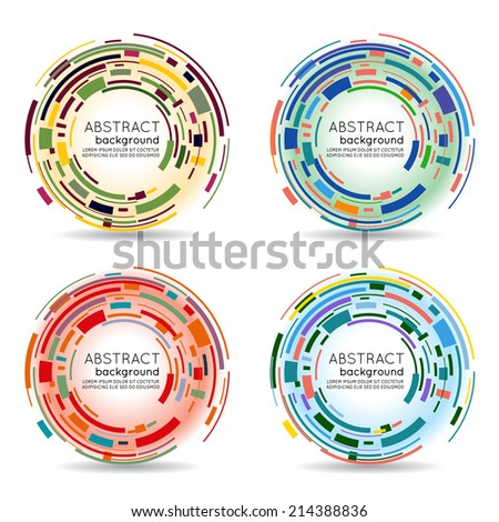 Abstract futuristic technology 3D circle. Vector background - stock vector