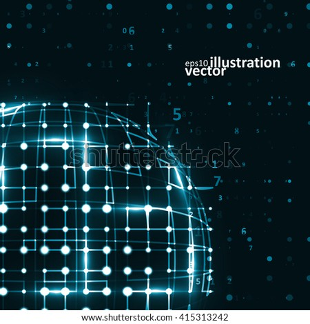 Abstract futuristic vector background, dark art illustration eps10 - stock vector
