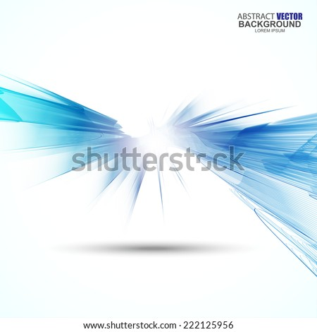 Abstract futuristic wavy background - stock vector