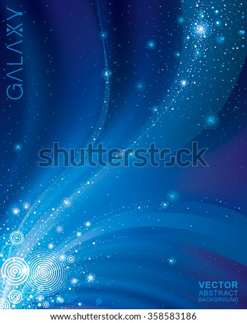 Abstract galaxy dark blue background.  - stock vector