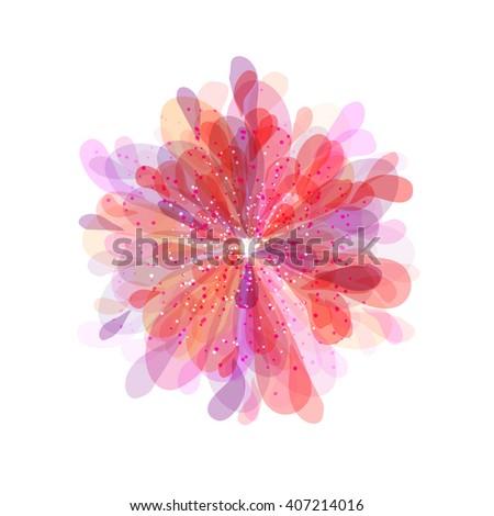 abstract gentle flower - stock vector