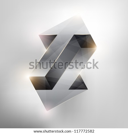 Abstract geometric arrows. - stock vector