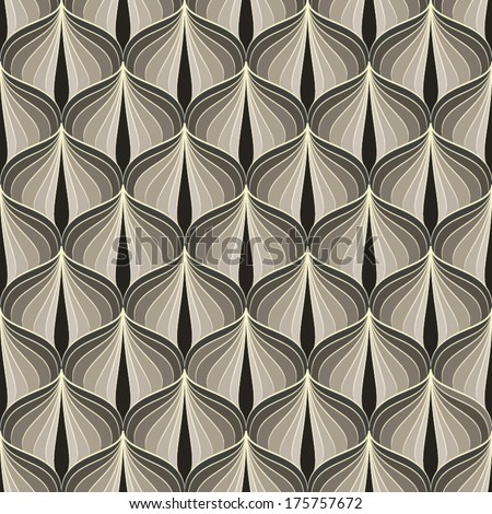 Abstract geometric Art Deco pattern. Seamless vector background. Vintage style texture. Vector illustration in art nouveau style. - stock vector