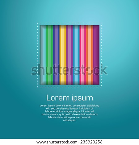 Abstract Geometric background, abstract colorful geometric template design - stock vector