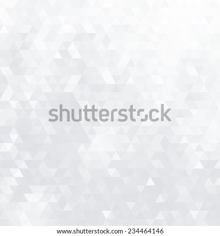 Abstract geometric background consisting of light gray triangles. - stock vector