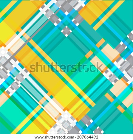 abstract geometric background, direct color line vector