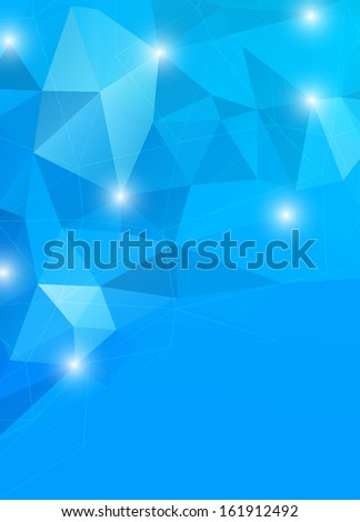 Abstract geometric background in blue color - stock vector