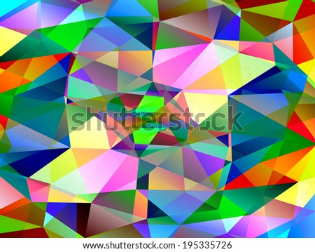 Abstract geometric background of triangular polygons. Eps 10. - stock vector
