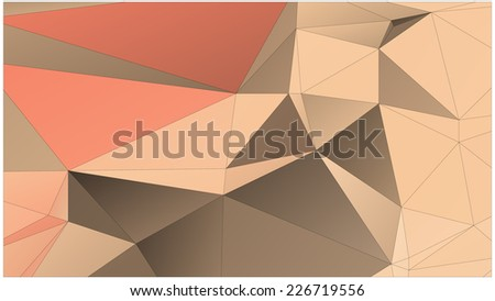 Abstract geometric background of triangular polygons. Low poly style vector illustration