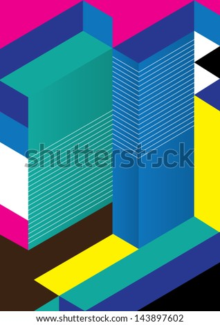 Abstract Geometric Background / Vector Illustration / Book Cover / Background Design / Graphics / Layout / Content Page / Annual Report - stock vector