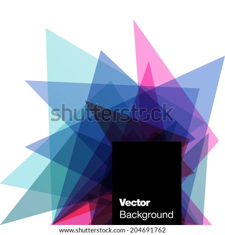 Abstract geometric background. Vector illustration for flyers, posters, banners.  - stock vector