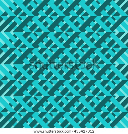 Abstract geometric background. Vector illustration. Pattern with line green. - stock vector