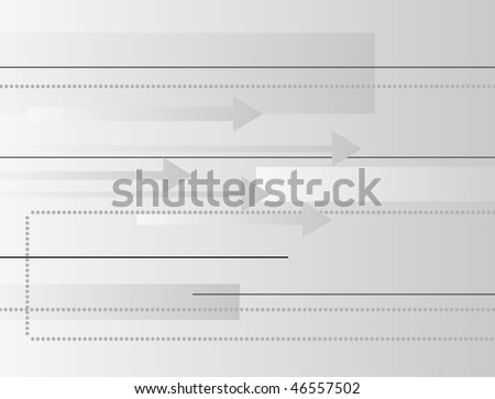 Abstract geometric background with arrows. Vector illustration - stock vector