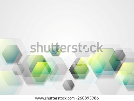 Abstract geometric background with hexagons. Vector design - stock vector