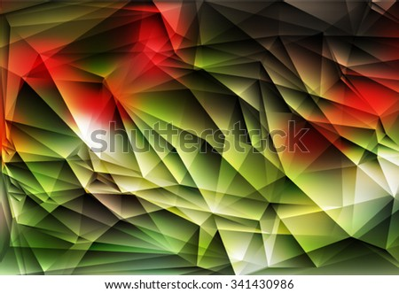 Abstract geometric background with polygons green color. Spring abstract background. Vector EPS 10 illustration. - stock vector
