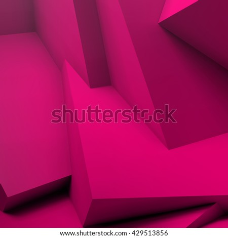 Abstract geometric background with realistic overlapping red cubes - stock vector