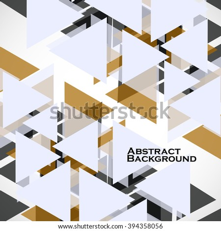 Abstract geometric background with triangles. Modern style. Vector illustration. Eps 10 - stock vector