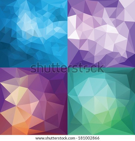 Abstract Geometric backgrounds. Polygonal vector backgrounds. - stock vector