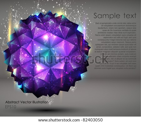 Abstract geometric Ball Background. - stock vector