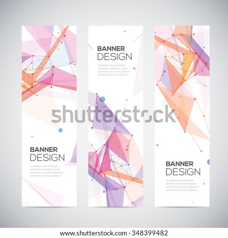 Abstract geometric banner design. Geometric backgrounds. - stock vector
