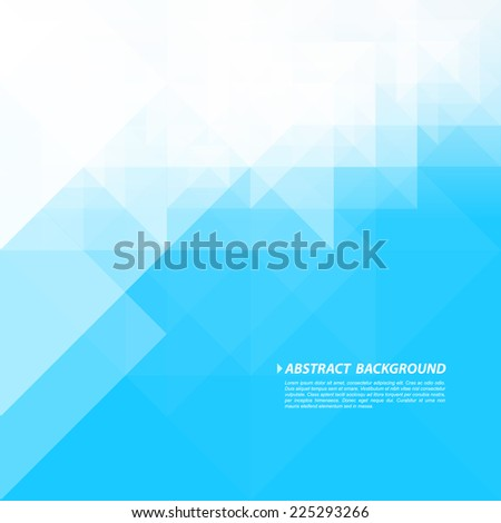 Abstract Geometric Blue And White Colors Background, Vector Illustration - stock vector