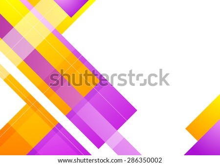 Abstract geometric bright background for your design. Vector template illustration - stock vector