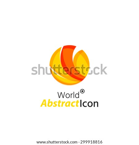 Abstract geometric business corporate emblem globe, world, circle. Logo icon design for travel or any other idea - stock vector