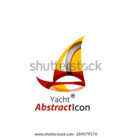 Abstract geometric business corporate emblem. Logo icon design for travel or any other idea - stock vector