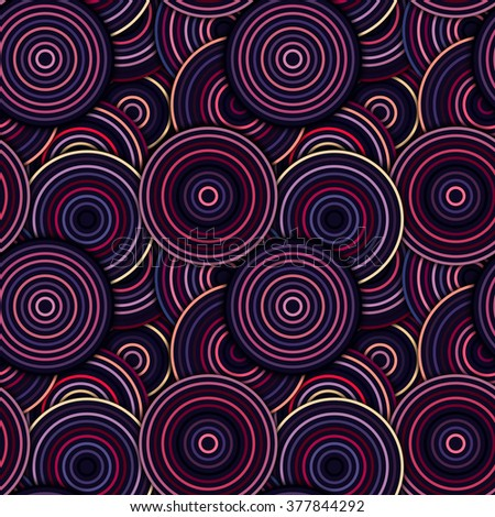 Abstract Geometric Circles Seamless Pattern. Vector wallpaper design