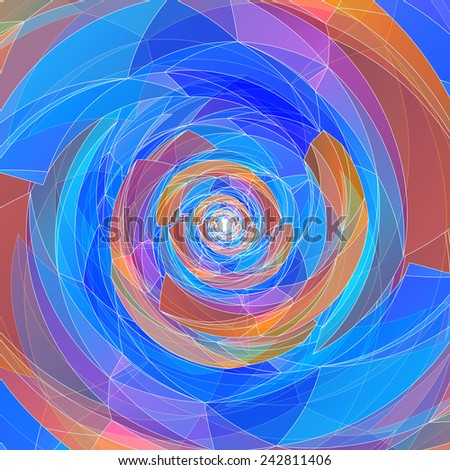 Abstract geometric colorful swirl background.  Vector EPS10. - stock vector