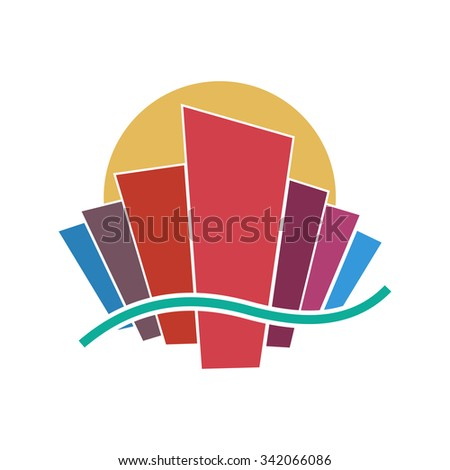 abstract geometric colorful vector  - stock vector