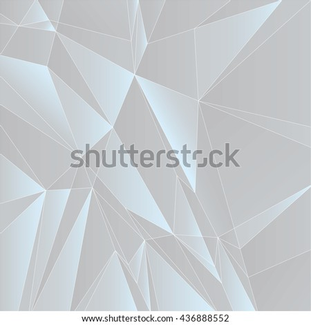 Abstract Geometric Gray Background. Vector Illustration. - stock vector