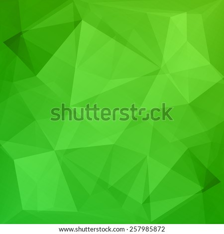 Abstract geometric green background - stock vector