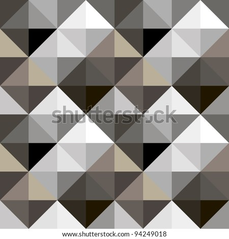 Abstract geometric grey seamless background - stock vector