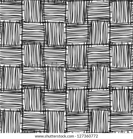 Abstract geometric hand drawn seamless pattern. - stock vector