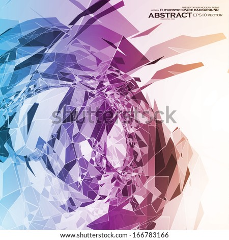 Abstract geometric illustration, colorful vector background eps10 - stock vector