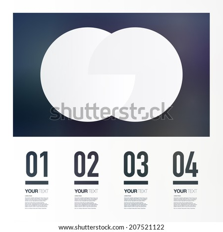 Abstract geometric infographic  design with four numbered text filed   Eps 10 stock vector illustration  - stock vector