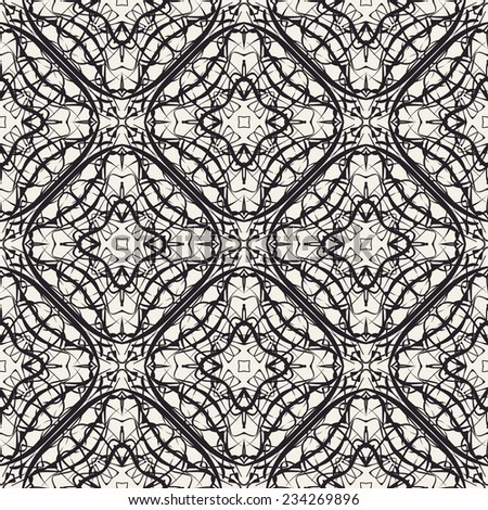 abstract geometric lace vector seamless pattern. retro pattern - stock vector