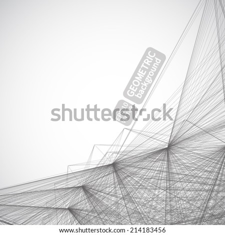 Abstract geometric lattice background, the scope of crystal structures, Crowd composition of build up debris. Vector for your design. - stock vector