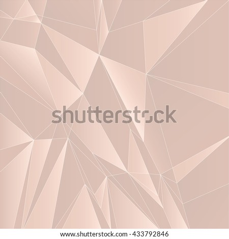 Abstract Geometric Light Orange Background. Vector Illustration. - stock vector