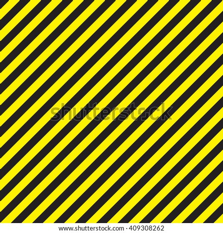 Abstract geometric lines with diagonal black and yellow stripes. Vector illustration